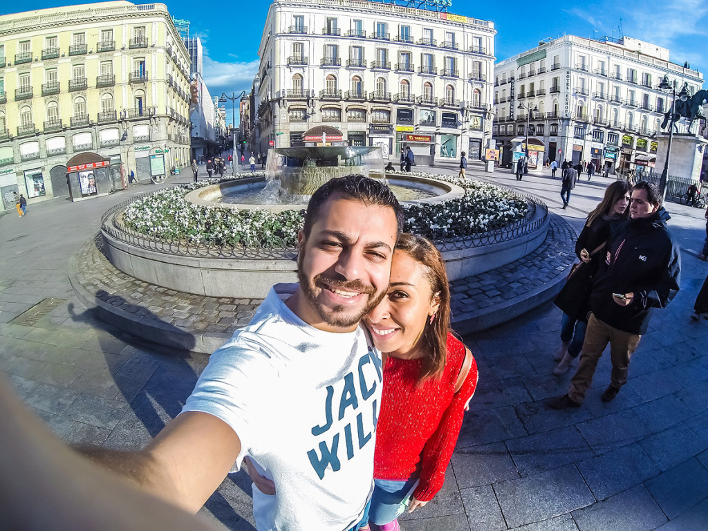 couple madrid spain travel